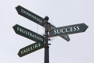 Failure-directions-road-sign-for-success-failure-frustration-and-downfall